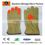 Hot sale pig split leather driving glove