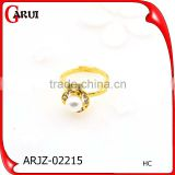 Fashion jewelry plated gold rose silver alloy diamonds pearl latest gold finger ring designs