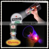 Christmas gift Led logo projector glass,led flashing superb cups