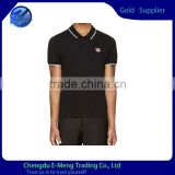Wholesale Low Price Cotton Black New Arrival Polo T shirt Stock