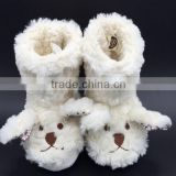 New fashion and hot selling plush animal fabric cotton boots, animal soft plush indoor boot