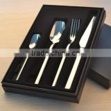 Customized Logo Export Italy Quality Cutlery Stainless Steel Flatware Set Tableware Dinnerware Knife Spoon Fork
