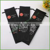 2016 New Design custom printed black aluminum foil coffee/tea bag with valve with tin tie