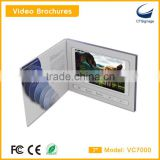 7 inch tft lcd screen sexy video greeting cards invitation cards video wedding cards vc7000