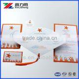 Custom printed Letterpress Pocket folding Invitation Paper Cards , Pocket business card ,Gift paper card china factory