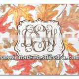 Seasonal Gifts Autumn Leaves Smooth Glass Cutting Board