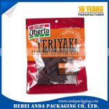 printing beef jerky packaging bags/snack plastic bag/stand up pouch for food/dried food sachet
