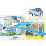 B/O magnet track aiplane with light music airplane toy EN71 AB005992