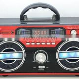 Super Bass Digital Display Portable Stage AM FM Radio Stereo Speaker