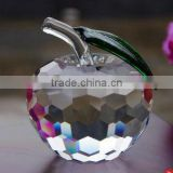 Beautiful transparent crystal apple