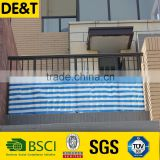 Long lifetime balcony railing cover, balcony blinds, plastic balcony cover