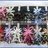 Satin hair clips