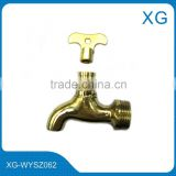 Brass lockable water faucet/Brass outdoor water bibcock/brass ball water tap/garden lock water faucet/Copper lock water faucet