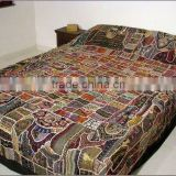 Incredible,Gorgeous Unique Masterpieces Sari Shimmering lined Indian Beaded Patchwork Bedding Bedspreads