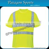 Hi-vis Safety T-Shirt with Reflective Tape