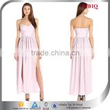 Custom New Pink Ball Gown Sexy Prom Party Long Strapless Bridesmaid Dress