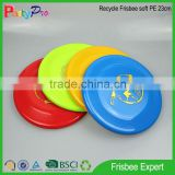 Philippines Market 2015 BSCI factory cat toys for kids Soft PE 23cm Dia Plastic Frisbee for sales