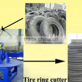 Waste tire sidewall cutting machine / recycling tyre cutting plant