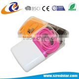 Colorful mobile phone charger uk 5V, 2A usb power adapter.