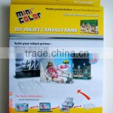 Mini-Color Canvas Frame(DIY home made product, Festival Gift, for Inkjet Printing, waterproof photo canvas)