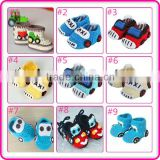 cute knitted car pattern custom handmade newborn baby crochet shoes                                                                         Quality Choice