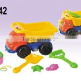 Hot Sale Plastic Summer Truck For Kids,Net Bag Beach Toys Adult Sand Set