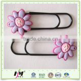 New products looking for Soft PVC + Paperclip paper book mark