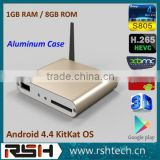 XBMC 13.2 android box S805 BD-ISO 3D Android ott tv box full hd 2160p cheap digital tv antenna preinstalled addons