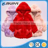 thick warm winter fur hoodie jacket, kids fur jacket hoodie
