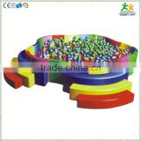 FS-SP-041K customized eco-friendly PVC & EPE & Wood kids soft ball pool product