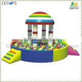 FS-SP-040K customized eco-friendly PVC & EPE & Wood kids commercial pool toys with sea-balls