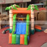 Factory direct inflatable slide,inflatable combo ,inflatable jumping bouncer with palm tree                                                                         Quality Choice