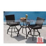 Outdoor garden and patio rattan furniture set 2 chairs 1 table black wicker rattan garden furniture set