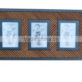 Modern solid wood and bamboo decorative picture frame of 3