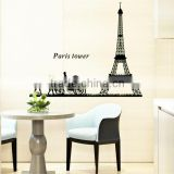 2015 Real Poster Stickers Removable Luminous Stickers Paris Tower Romantic Bedroom Simple Background Decorative Sticker ABQ9624