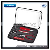 18PCS Mechanic hand tool kits bit holder untility knife 9mm precision screwdriver tin box gift