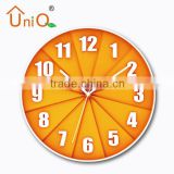 Cup cake modern home decor wall clock wholesale