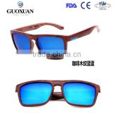 Wood PC Quick delivery mirror lenses wholesale custom logo sunglasses polarized designer
