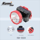 SUPER BRIGHT solar power led rechargeable mining headlamp KM-5504