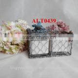 wire mesh planting baskets for wholesale with glass bottle