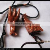 wholesale colorful different natural crystal/sandstone/tiger eye/malachite stone dragon head skull for pandant