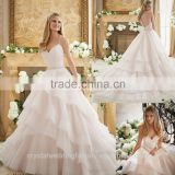 Vestidos De Novia Robe De Mariage Mariee Wedding Gowns 2016 Ball Gown Puffy Princess Ruffled Wedding Dresses CWFW2312