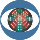 200mm Red Cross and Green Arrow 12v PC UC with Clear Lens Traffic Light Module