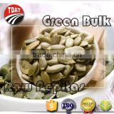 Organic green bulk pumpkin seeds raw