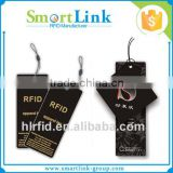 Customized RFID apparel price tag,rfid uhf clothing label hang tag for garment inventory management