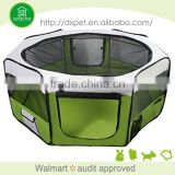 Zipper sealed bottom Portable Foldable Pop Up Dog Playpen Exercise Pen