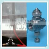 Liquid and air internal mixing flat fan spraying atomizing nozzles