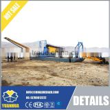 Gold refining machine bucket wheel gold dredge