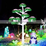 Home garden decorative 350cm Height outdoor artificial green flashing LED solar lighted up mashroom trees EDS06 1429