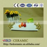 Factory stock plate ceramic with Metal handle